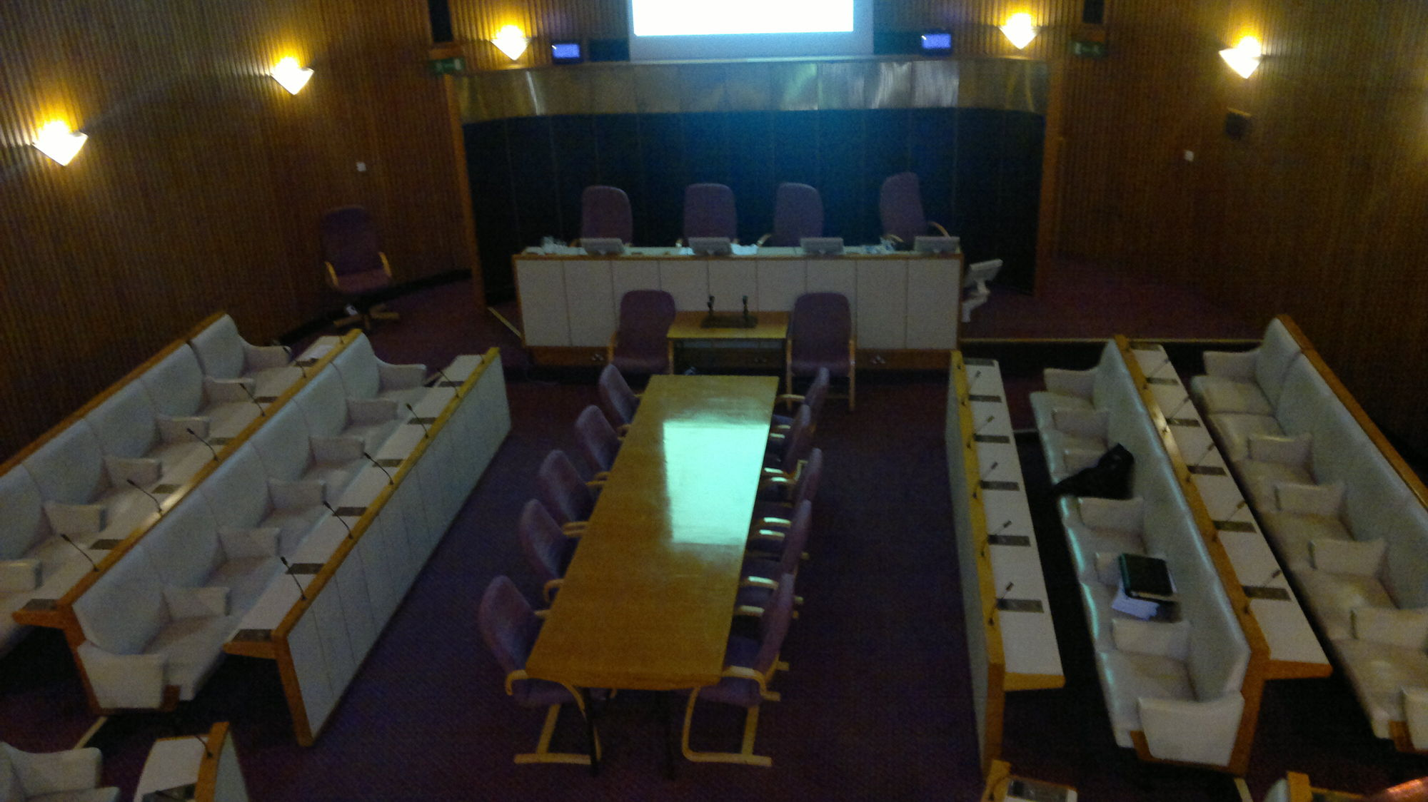 Photo of the old council chamber at Civic Centre